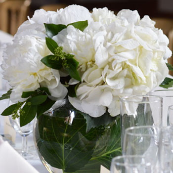 Algarve summer wedding flowers with Hydrangea